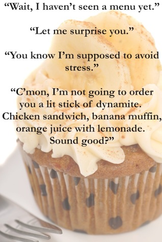 Delicious carrot cake cupcake with cream chees frosting, bananas and cinnamon.
